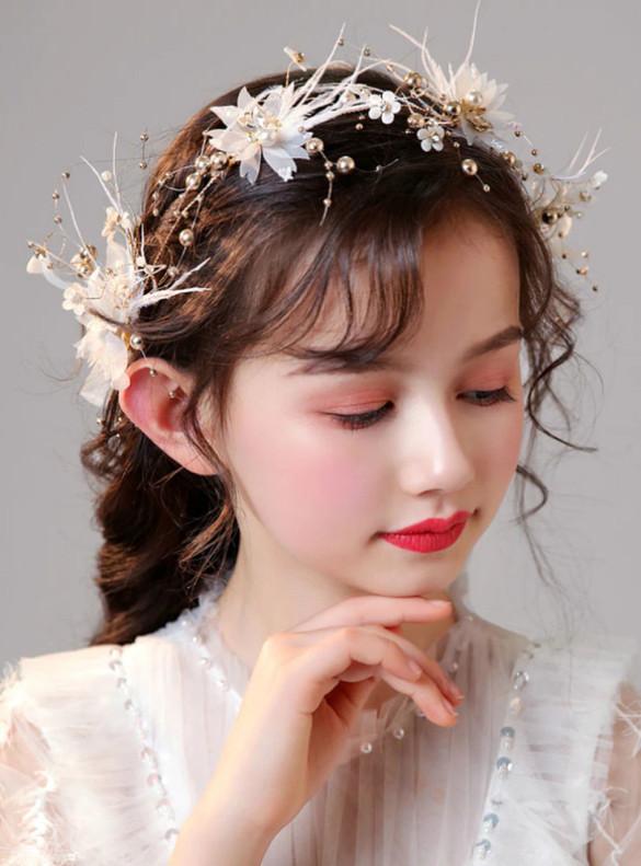 Flower Girl Pearls Hair Accessories