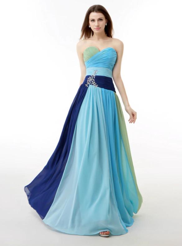 Chiffon Sweetheart Crystal Bridesmaid Dress
