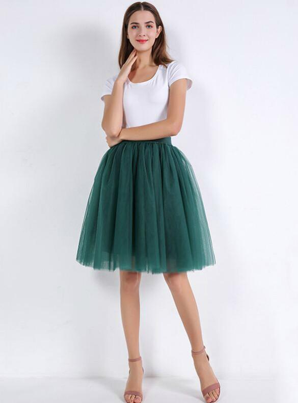 Tulle Short Knee Length Tutu Skirt