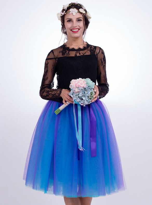 Two Color Tulle Tutu Skirt