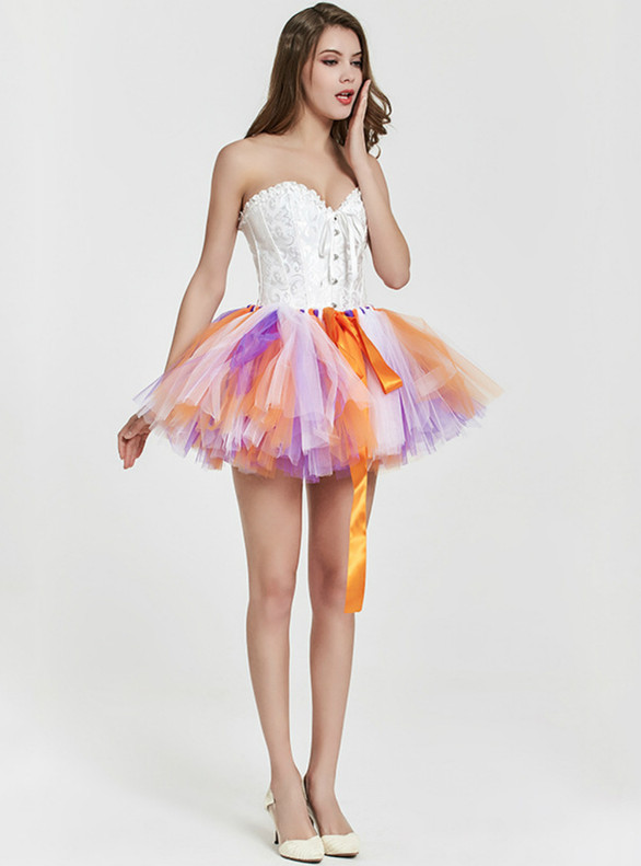 Hand-woven Colorful Tulle Tutu Skirt