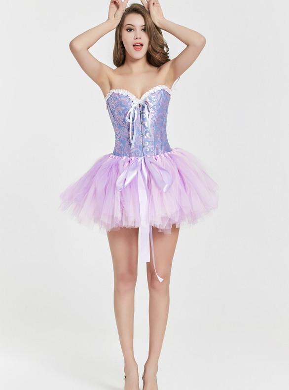 Purple Tulle Mini Tutu Skirt