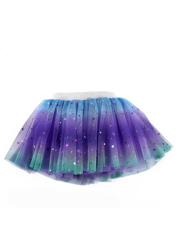 Rainbow Tulle Sequins Girls Tutu Skirt