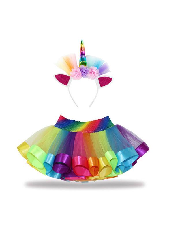 Rainbow Tulle Tutu Skirt