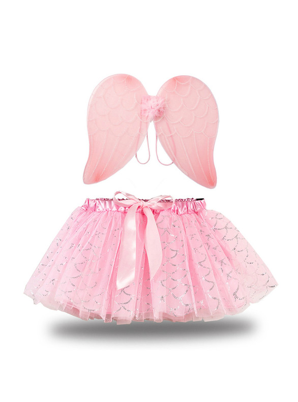 Tulle Short Tutu Skirt With Angel Wing