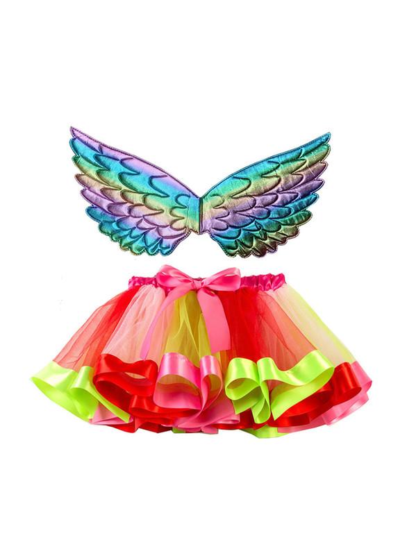 Tulle Rainbow Wings Tutu Skirt