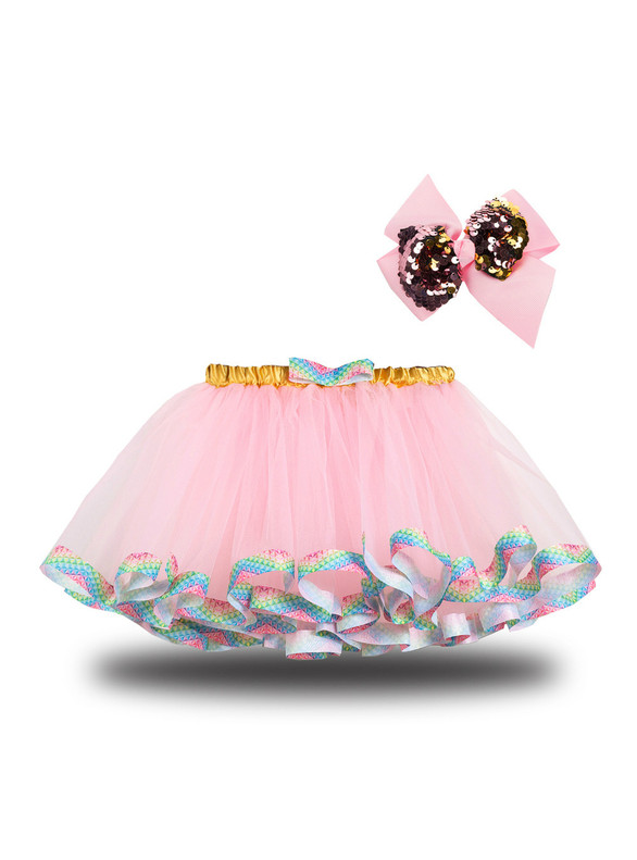 Girls Tulle Tutu Skirt With Bow