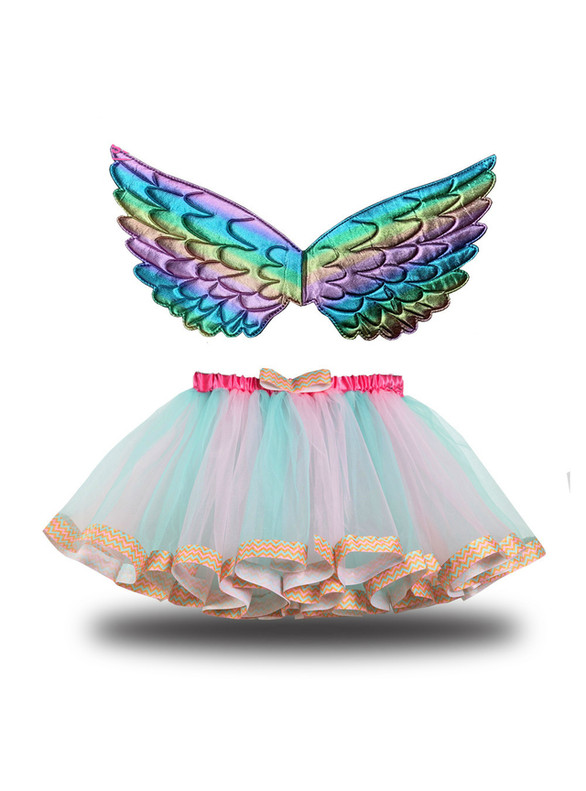 Tulle Tutu Short Skirt With Wings