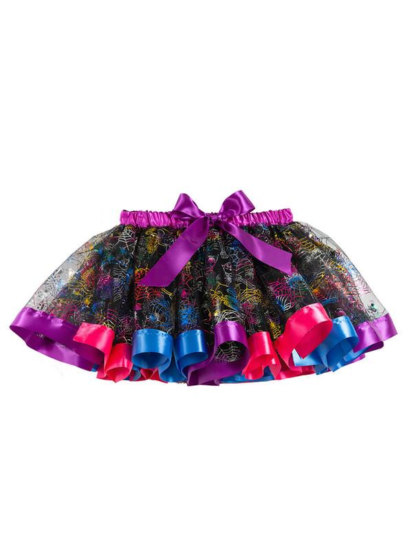 Tulle Print Halloween Tutu Skirt