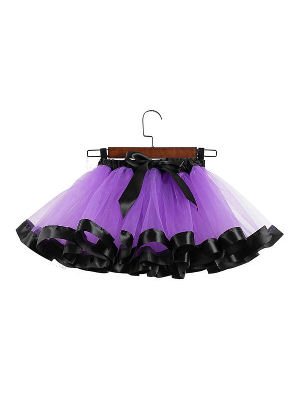 Purple Print Tulle Tutu Skirt