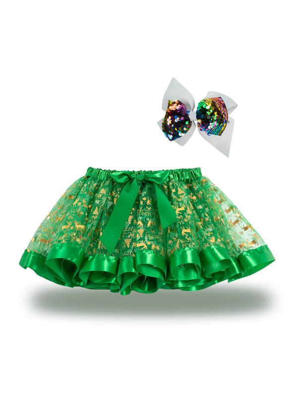 Christmas Printed Girls Tutu Skirt