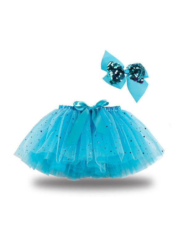 Tulle Star Sequins Girls Tutu Skirt