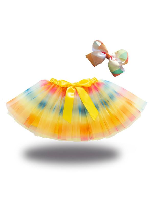 Girls Colorful Tulle Tutu Skirt