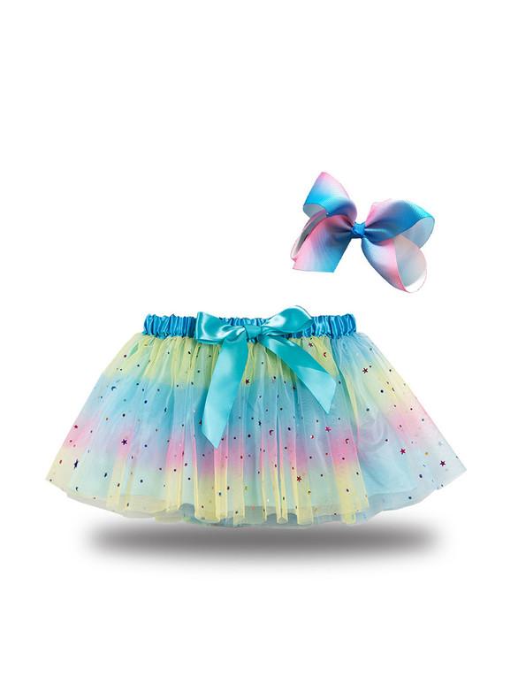 Color Tulle Star Sequins Tutu Skirt
