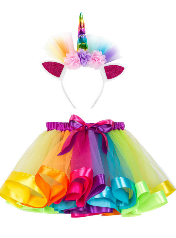 Colorful Girls Tulle Tutu Skirt