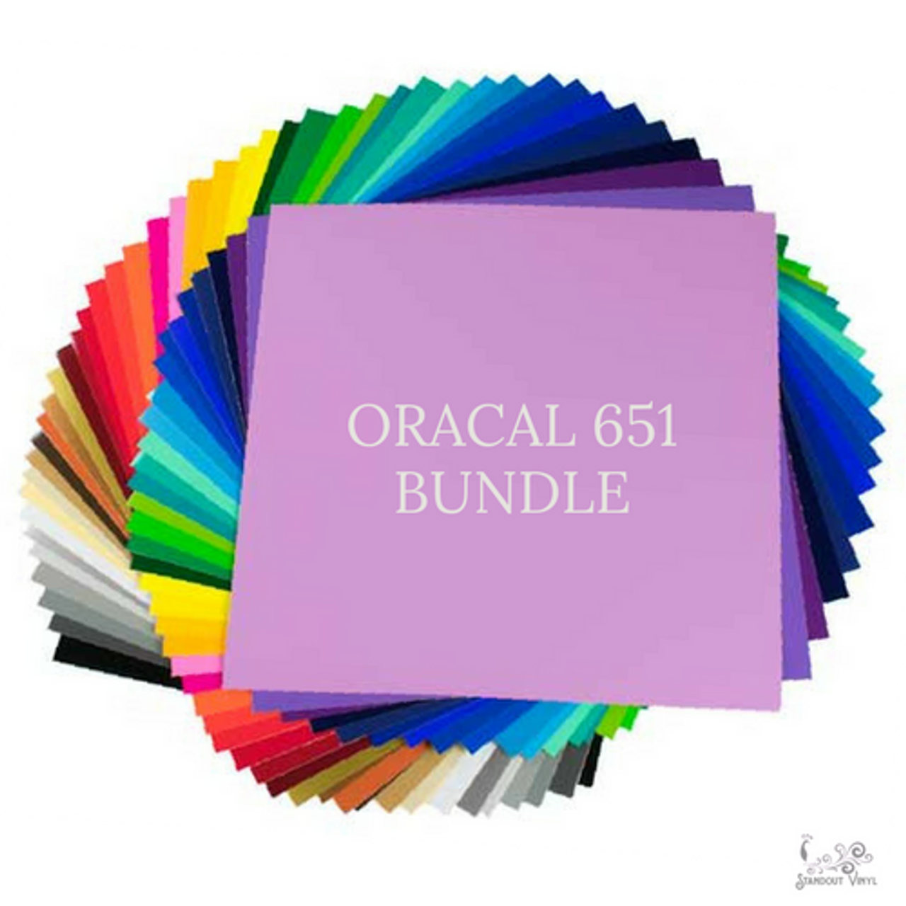 Oracal 651 All Color Bundle: 44 Assorted 12
