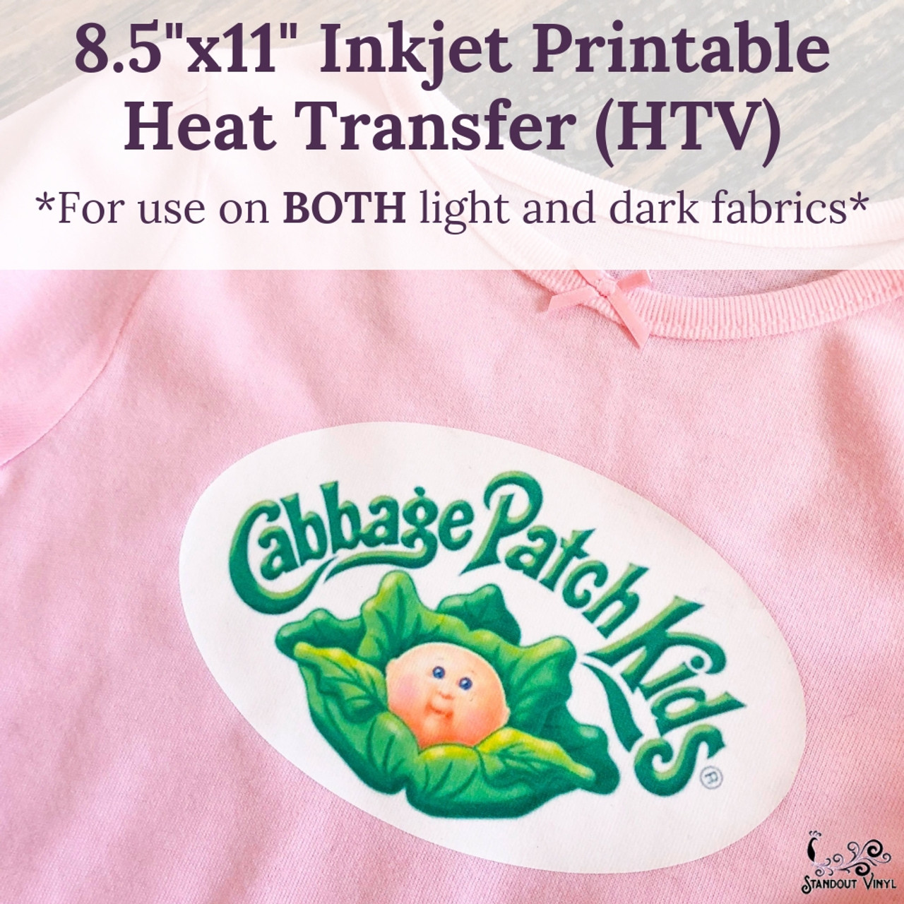 photo relating to Best Printable Heat Transfer Vinyl known as 8.5\
