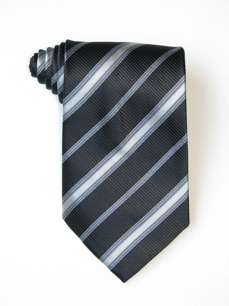 Free Black And White Stripe Tie
