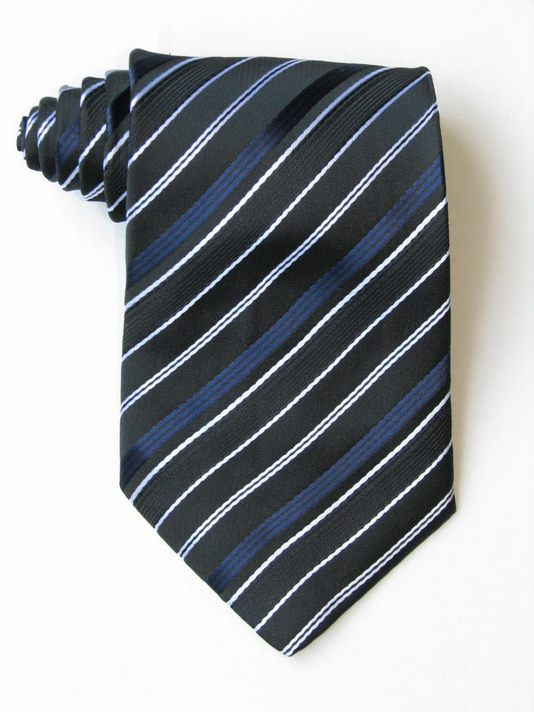 Free Blue And White Stripe Tie