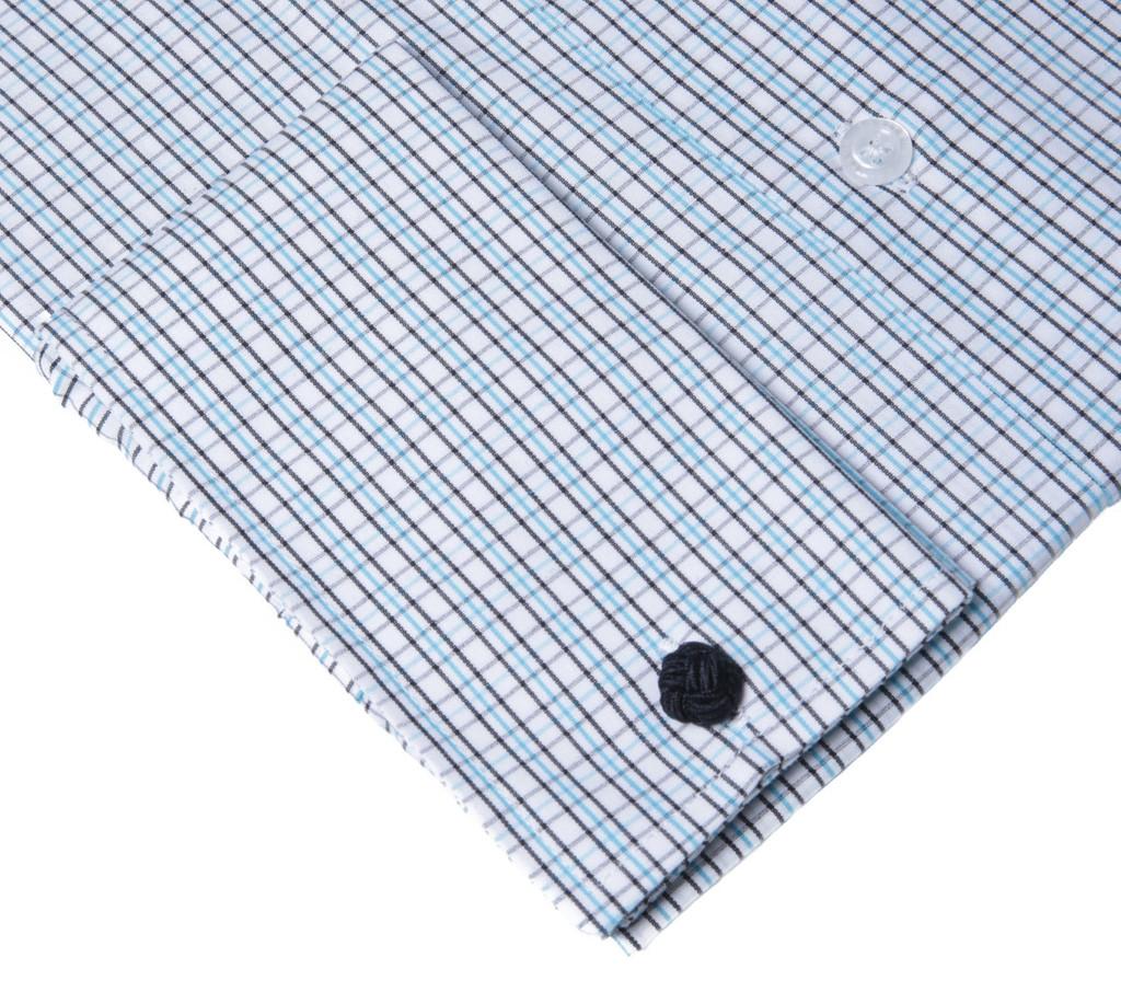Labiyeur Men's Slim Fit French Cuff Checkered Dress Shirt Plaid Green/Black