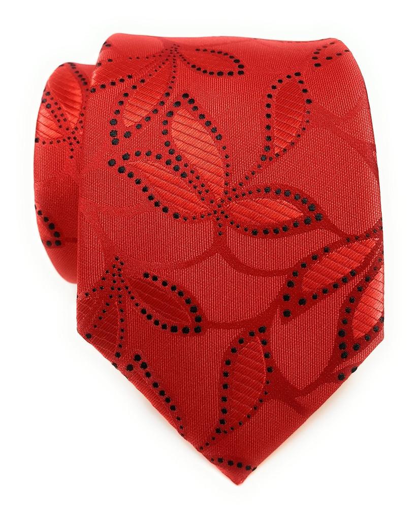 Labiyeur Men's Necktie: Fully Lined Woven Jacquard Slim Neck Tie Floral