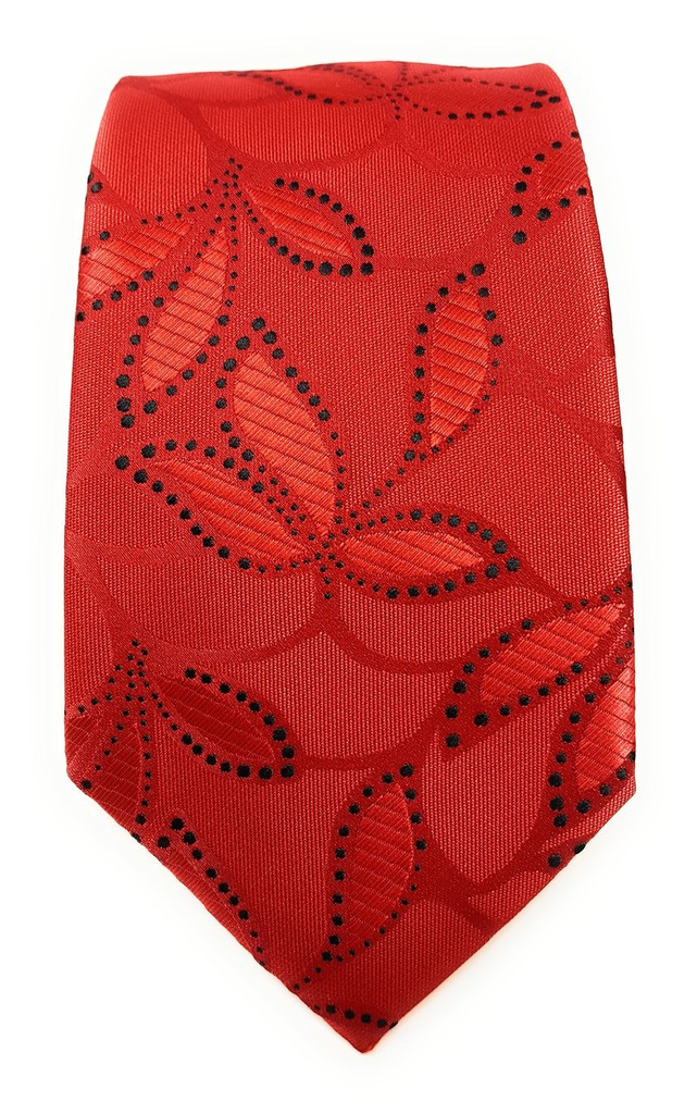 Labiyeur Men's Necktie: Fully Lined Woven Jacquard Slim Neck Tie Floral