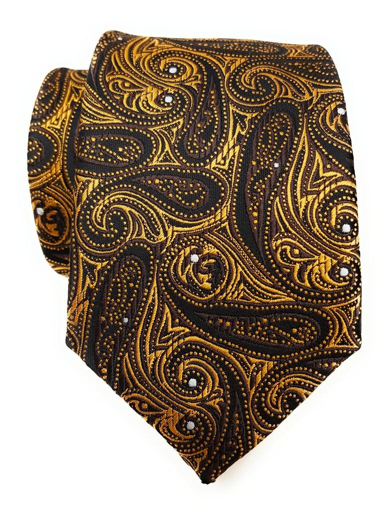 Labiyeur Men's Necktie: Fully Lined Woven Jacquard Slim Neck Tie Black Paisley