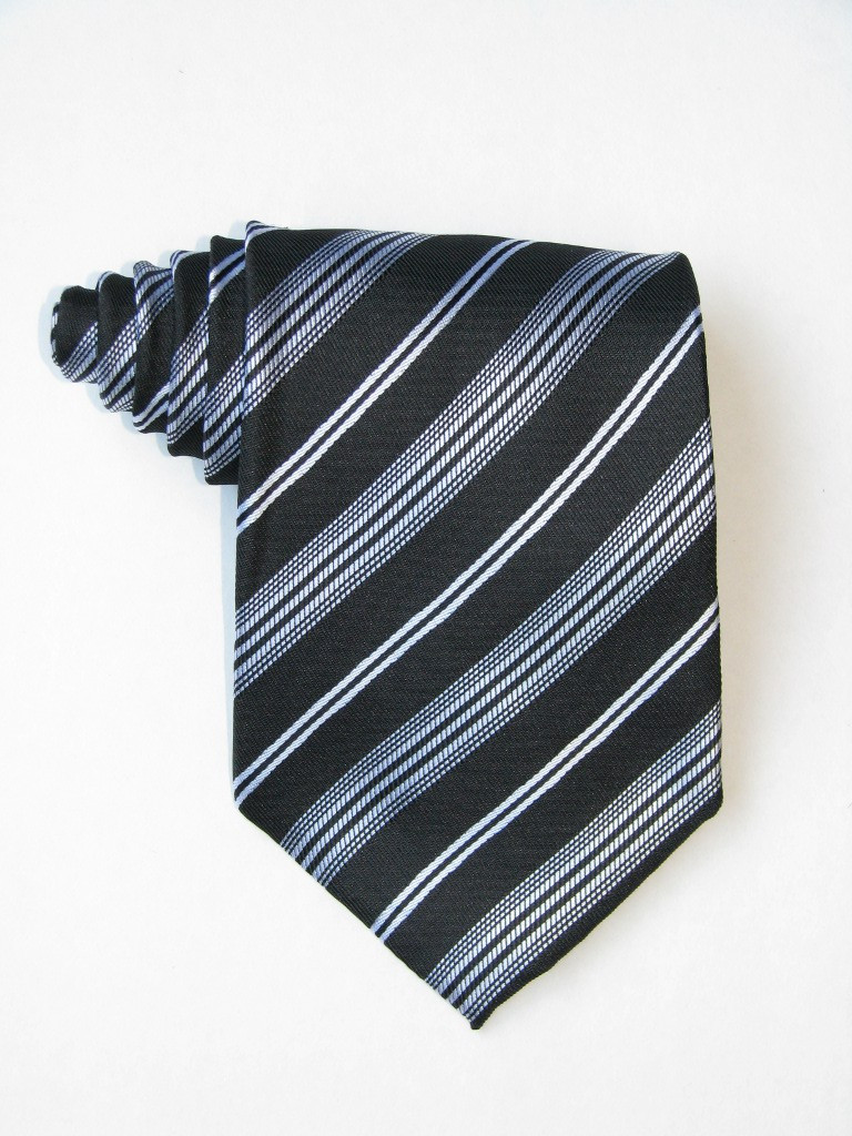 Black Background And White Stripe Tie