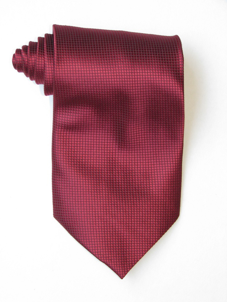 Little Squares Burgundy tie