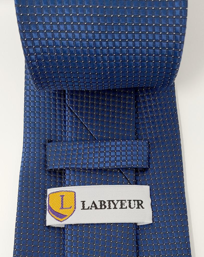 Little Squares Navy Tie
