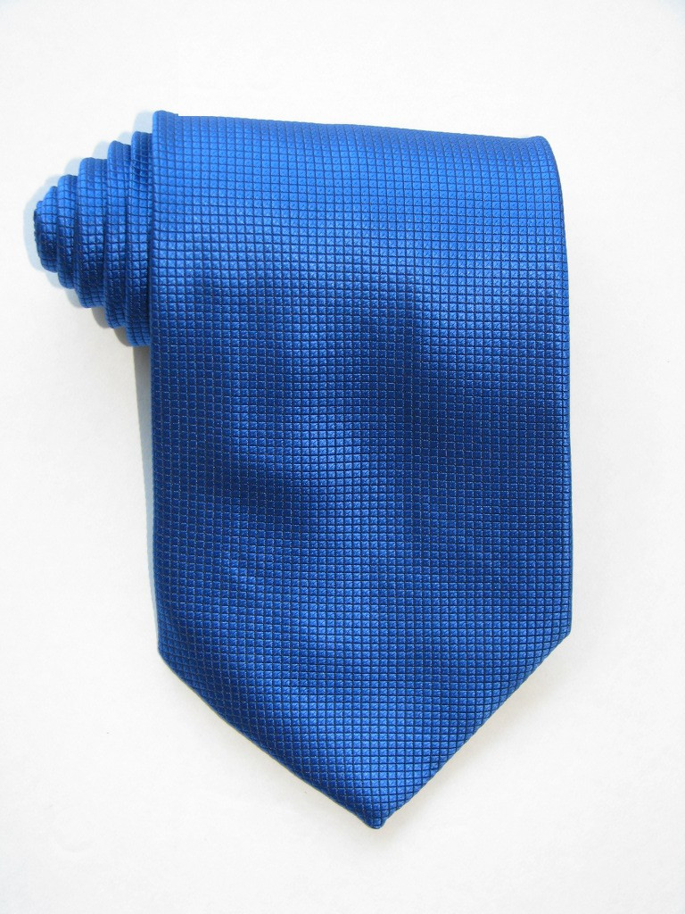 Little Squares Shining Blue Tie