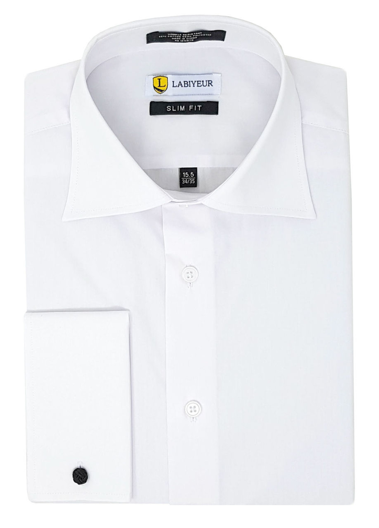 b9e10f012e5 ... French Cuff Poplin Cotton Blend Solid Dress Shirt White Click to  enlarge ...