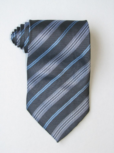 Free Blue Background And White Stripe Tie