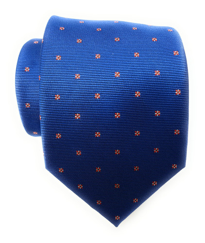 Labiyeur Men's Necktie: Fully Lined Woven Jacquard Slim Neck Tie Blue Starry