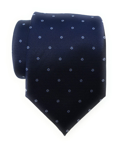 Labiyeur Men's Necktie: Fully Lined Woven Jacquard Slim Neck Tie Navy Blue Starry