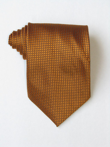 Little Squares Golden Tie