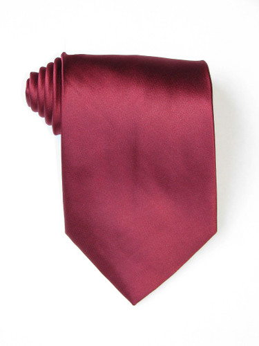 Solid Burgundy Tie
