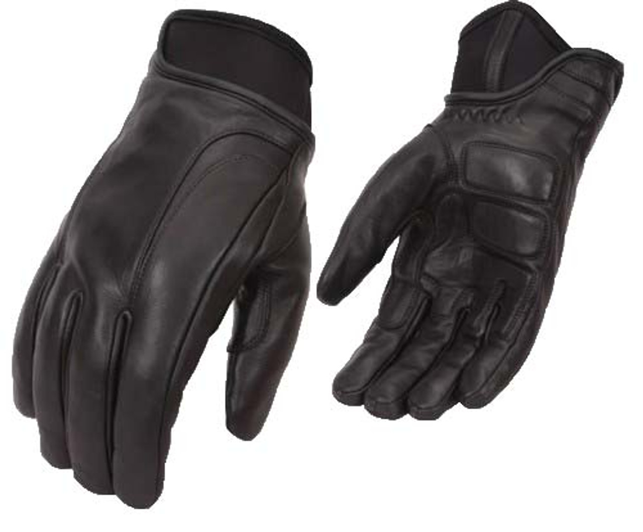 Brand New Mens Cruiser Leather Motorcycle Motorbike Gloves Cowhide Leather Gloves
