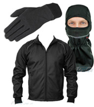 Review Motorcycle Windproof Thermal Jackets Gloves Balaclava