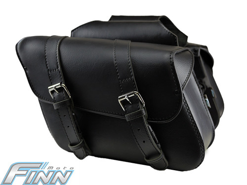 504 - Throwover Saddlebag - Sleek angled shape, Weather proof lid