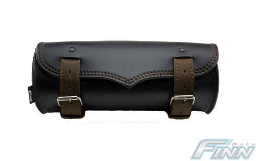 509 - V Brown Tek Leather Motorcycle Tool Bag