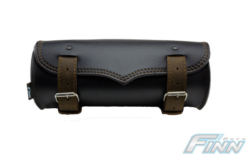 509 - V Brown Tek Leather Motorcycle Tool Bag