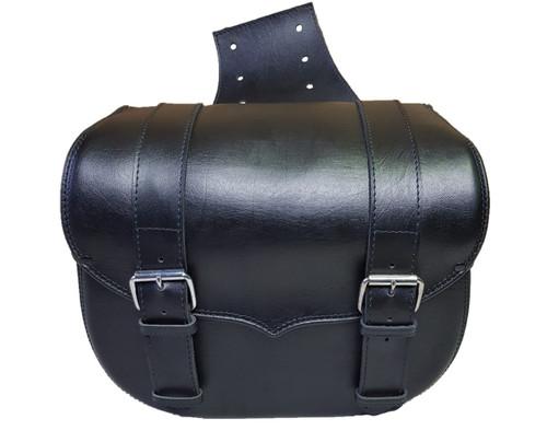 509 - V Black Throwover Saddlebags
