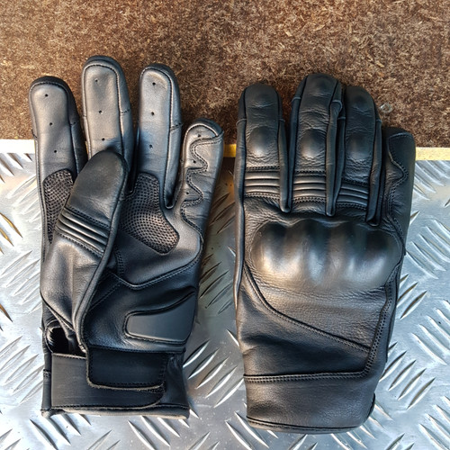 2019 Full Leather Short Motorcycle Glove