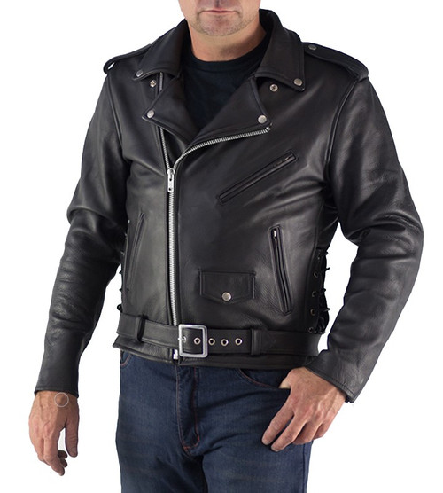 Mens Brando Leather Jacket