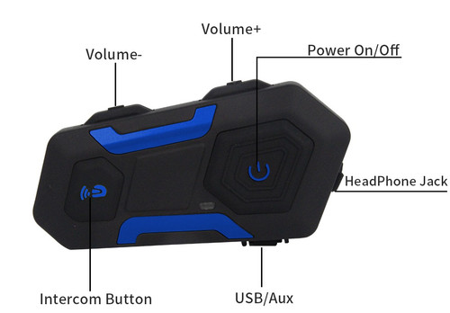 New R10FM Bluetooth Motorcycle Intercom - Group Rider