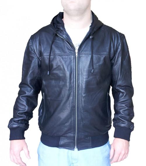 Sheep Leather Hoodie Fashion Jacket