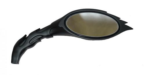 Black FlameBall Custom Motorcycle Mirrors Set