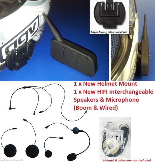 HiFi Stereo Speakers & Interchangeable Boom & Wired Mic Kit