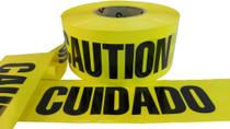 Yellow Barricade Tape with Caution Cuidado Print